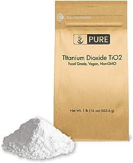 Titanium Dioxide TiO2 (1 lb.) by Pure Organic Ingredients, Eco-Friendly Packaging, Non-Nano, Food & USP Grade, Vegan, Non-GMO