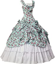 Women Gothic Victorian Dress Civil War Southern Belle Tea Party Ball Gown Cosplay Costume
