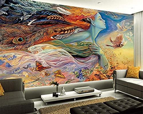 Renovación del hogar Muebles Papel tapiz personalizado Mural Etiqueta de la pared Pintura Belleza estÃtica Imagen de belleza Telón de fondo de TV Pintura Mural Foto Papel tapiz 3D Mural Etiqueta de