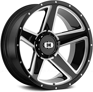 Vision Offroad Empire Сustom Wheel - 390 Empire Gloss Black with Milled Spokes 20