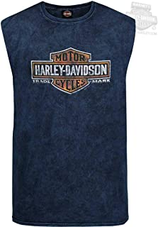 HARLEY-DAVIDSON Mens Long Time Trademark B&S Mineral Wash...