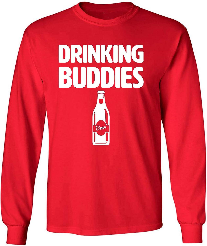 zerogravitee Drinking Buddies Adult Long Sleeve T-Shirt