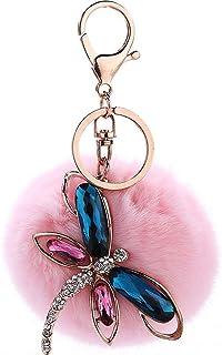 YiyiLai Key Buckle Pom Pom Keychain Handbag Decor Pendant Keyring