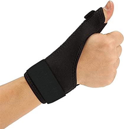 Elove Thumb Brace Spica Splint Support - Neoprene Reversible Thumb Stabilizer for Pain, Sprains, Strains, Arthritis,Tendonitis, Carpal Tunnel & Trigger Thumb Immobilizer [Fits for Both Hands]