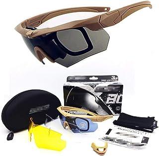 con 4 Lenti intercambiabili X7 Occhiali Tattici Militari Occhiali da Sole Sportivi polarizzati Pesca per Corsa Ciclismo HugeAuto Sci Occhiali protettivi per Uomini e Donne