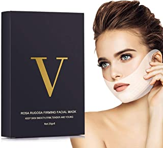 V Line Lifting Face Mask, 8 Pcs Double Chin Reducer Intense Lift Layer Mask, Chin Up Tightening Patch V Shape Slimming Facial Neck Mask, V Line Firming Moisturizing Tape Mask for Face and Neck Lift