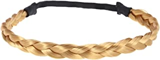 Frcolor Braided Headband, Elastic Hair Braided Hair Headband For Women Girls (Golden brown)