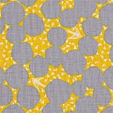 Gelbes Wachstuch mit grauen Kreisen von echino