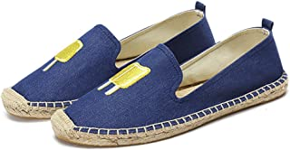 qzunique Women's Qz Canvas Slip-On Shoes Loafers Casual Sneakers Flats 7.5 B(M) US Ice Lolly
