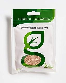 Gourmet Organic Herbs Mustard Seed Yellow, 40 g