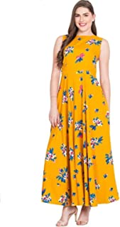 76ae0c401ad 16 Always Women's Yellow Dress, Western Dresses,Maxi Dress- Fancy Dress for  Women