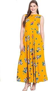 c0a8e2b653ba 16 Always Women's Yellow Dress, Western Dresses,Maxi Dress- Fancy Dress for  Women