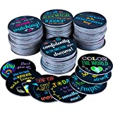 Really Good Stuff Positive Affirmation Chips - 100 Pack with 50 Motivational, Encouragement, Inspirational and Kindness Sayings