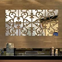 European and American style frame acrylic mirror paste 3D mirror wall stickers