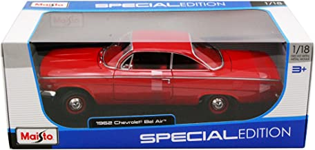 1962 Chevrolet Bel Air Red 1/18 Model Car by Maisto