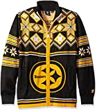 Pittsburgh Steelers Split Logo Ugly Sweater Jacket Medium