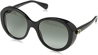 Gucci GG0368S 001 Black GG0368S Square Sunglasses Lens Category 2 Size 56mm