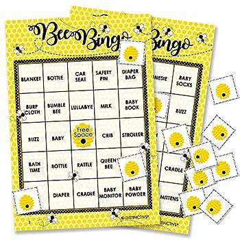 Bumble Bee Baby Bingo Game - 24 Guests