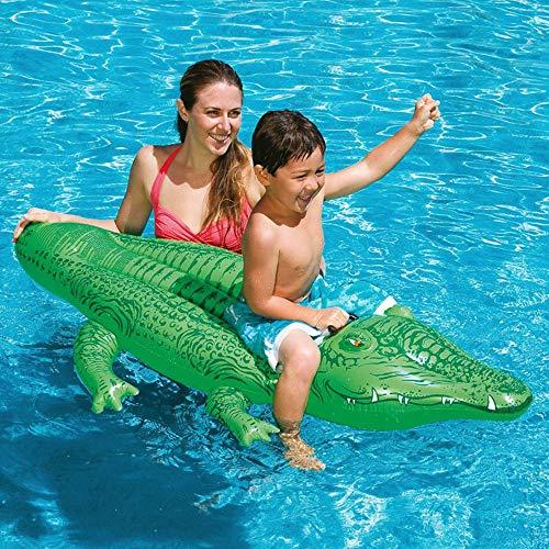 KSTYLE Inflable Piscina De Cocodrilos Boyas, Boyas De Atracciones Playa, Piscina Juguetes Party, Islas Piscina, Piscina De Verano Balsas para Adultos Y Niños