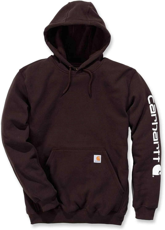 Carhartt Men's Signature Sleeve Logo Hooded Sweatshirt Hooded LRG