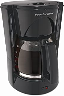 Proctor-Silex 48524RY Compact Coffee Maker, 12 Cup, Black