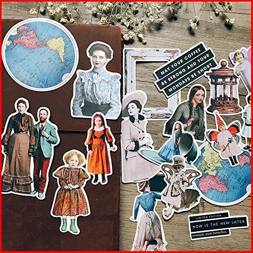 Blour Wereldkaart Vintage personaliseerbaar Scrapbook sticker scrapbooking materiaal zelfklevend Happy Planer Junk dagboek