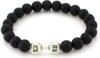 Wow! 9 Color 8mm Lava Onyx Matte Beads Adjustable Mens&Girls Bracelet Natural Stones Live Lift Dumbb