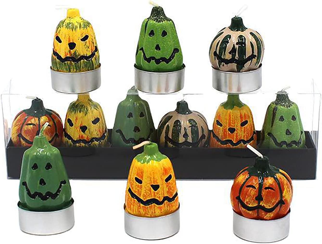Yinuoday Halloween Tealight Candles Regular store Our shop OFFers the best service Pumpkin 6Pcs Lan Set