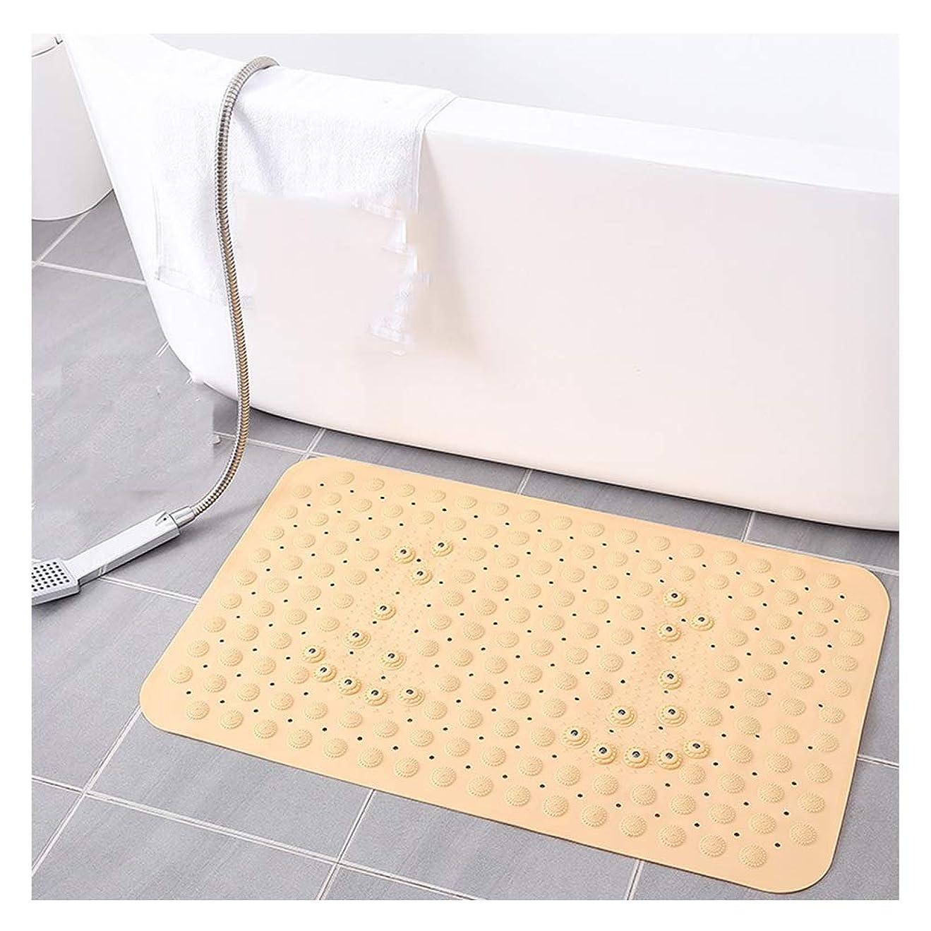 アジャパシフィック同化するGHHQQZ 2個 バスルームのカーペット 滑り止め マッサージ 強力な吸盤 シャワー フットパッド トイレ 浴場、 カーペット 10色、 厚さ0.9 cm (Color : Yellow, Size : 50x80cm)