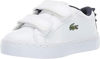 2adbad7e578a2 Lacoste Straightset 119 1 Blanc Marine Synthétique Bébé Formateurs  Chaussures