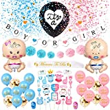 Gender Reveal Party Supplies, Baby Gender Reveal Decorations, Boy Or Girl Balloon Gender Reveal Party Decorations, Baby Shower Decorations, Baby Reveal Props, Gender Reveal Party Supplies Kit (65 pcs)