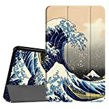 FINTIE Coque pour Samsung Galaxy Tab A6 10.1 - Ultra-Mince et Léger Housse Etui Cover avec Sleep Wake Up Fonction pour Samsung Galaxy Tab A (2016) SM-T580 SM-T585 10.1' Tablette, Rough Sea