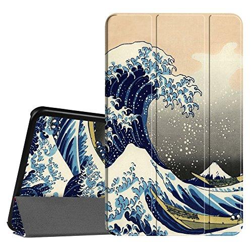 Fintie SlimShell Funda para Samsung Galaxy Tab A 10.1 2016 - Súper Delgada y Ligera Carcasa con Función de Soporte y Auto-Reposo/Activación para Modelo SM-T580N/T585N, Las Olas