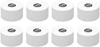 White Sports Medical Athletic Tape - No Sticky Residue & Easy to Tear - for Athletes, Trainers & First Aid Injury Wrap: Fingers Ankles Wrist - 1.5 Inch x 15 Yards per Roll (White, 8-Pack)