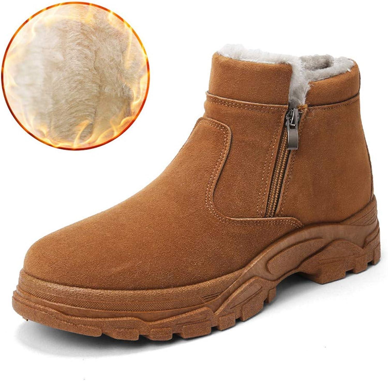 LFEU Männer Schnee Stiefel Kurze plüsch gefüttert super warme Baumwolle Schuhe Winter Slip auf seitlichem reißverschluss männlichen Ankle Stiefelies  | Zürich