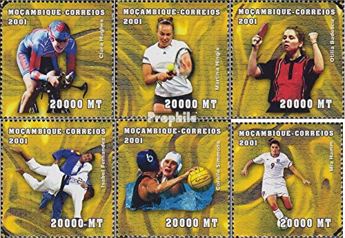 Prophila Collection Mosambik Michel.-No..: 1912-1917 2001 ganadores Olimpia 2000 Sidney (Sellos para los coleccionistas) Juegos Olímpicos