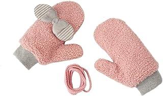 ACVIP Women's Teen Girl's Bowknot Polar Fleece Cold Weather Mitten Gloves