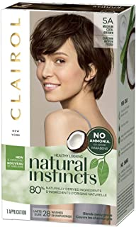 Clairol Natural Instincts Hair Color, Medium Cool Brown [5A] 1 ea (Pack of 9)
