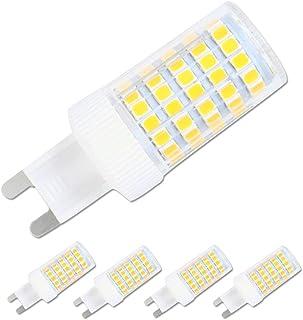 G9 bombillas LED Blanco Frío 6000 K,10 W,80 W Halógena G9 Bombillas de repuesto,86 smd 2835 LED ahorro de energía bombillas, CA, 360 ° ángulo de haz, 800lm,G9 bombilla LED Pack de 4