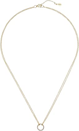 SHASHI - Circle Pave Pendant Necklace
