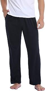 Pantalon de Pijama Hombre Largo y Suave para Hombre Suelto con Bolsillos S-XXL