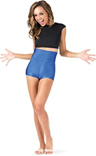 black high waisted spandex shorts
