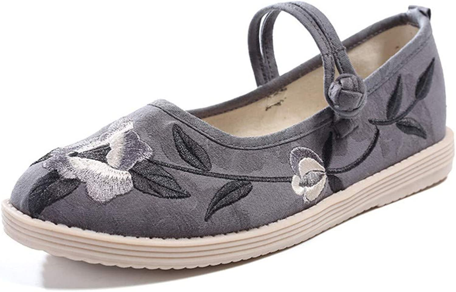Cloth shoes, Women's shoes, stiffened Soles, Embroidered shoes, Dancing shoes-YU&Xin