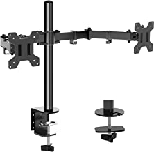 Dual Monitor Stand Mount, Height Adjustable LCD Monitor Desk Mount, Articulating Full Motion Tilt Swivel Monitor Arm - Fit...
