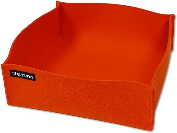 peque/ño Naranja filzbrand cesto//Cubo de Fieltro dise/ño Deco Premium