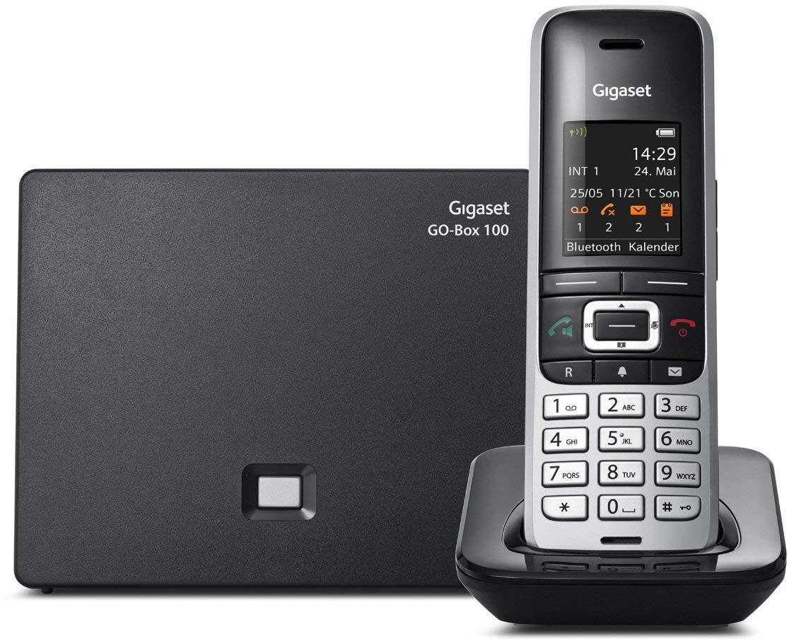 Gigaset S850A GO - Teléfono (Teléfono DECT, 500 entradas, Identificador de Llamadas, Servicios de Mensajes Cortos (SMS), Negro, Platino): Amazon.es: Electrónica