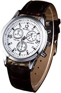 Men Women's Analog Quartz Watch,ODGear Ladies Cheap On Clearance Wrist Watch NW21 (Brown B)