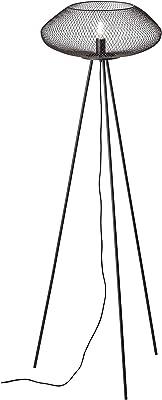 Lightbox Lampadaire LED à trois pieds 154 cm 1 douille E27 pour max. 40 W en métal Noir