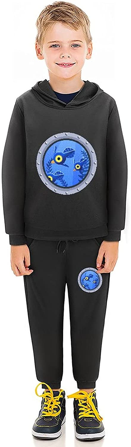 Subnau-tica Toddler Boy Girls Sweatsuits Outfits Little Kid Tee Pants Set Child Hoodie Pullover 2 PieceFOR 5-11Y