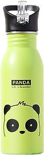 flower205 Bouteille d'eau en Acier, Gourde INOX Isotherme sans BPA avec Couvercle de Paille et Casquette Sport Push Pull, ...